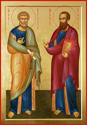 Апостолы Петр и Павел икона