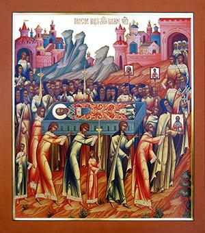 Икона  Перенесения мощей святителя и чудотворца Николая из Мир Ликийских в Бар