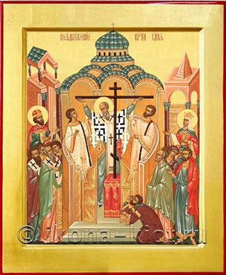 крестовоздвижение икона